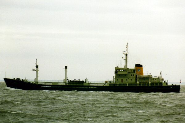 Thames pictured in the Thames Estuary on 6th October 1995
