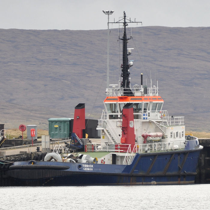 Tirrick pictured at Sella Ness on 11th May 2013