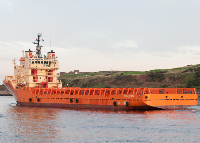 Toisa Intrepid pictured departing Aberdeen on 10th October 2014