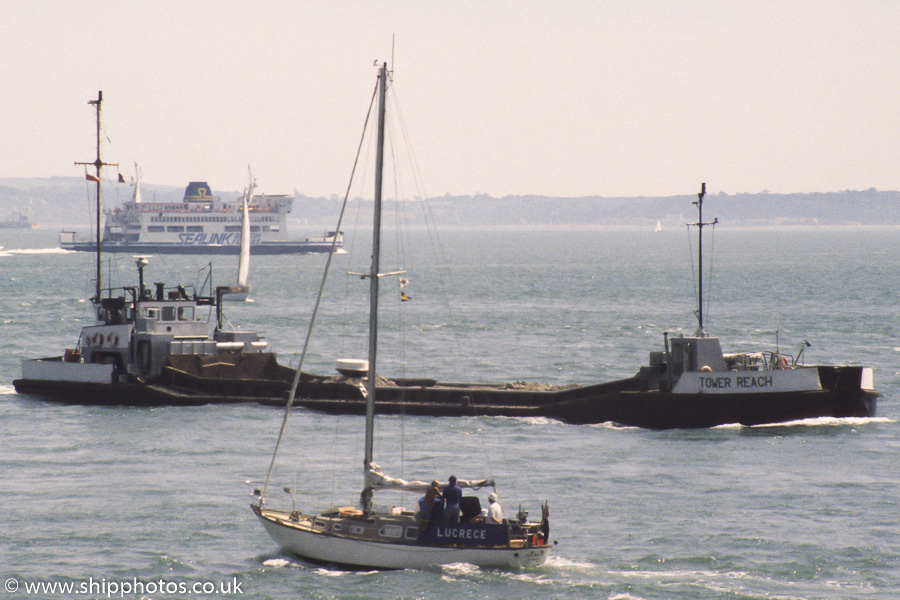 Tower Reach pictured approaching Portsmouth Harbour on 18th June 1989
