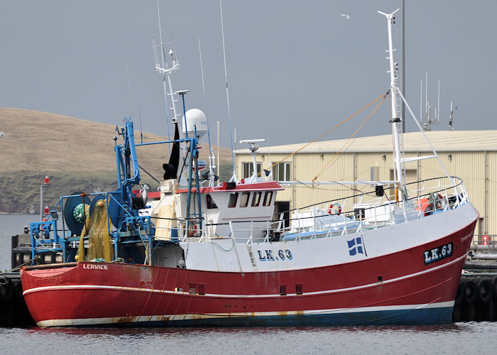 Tranquility pictured at Scalloway on 10th May 2013