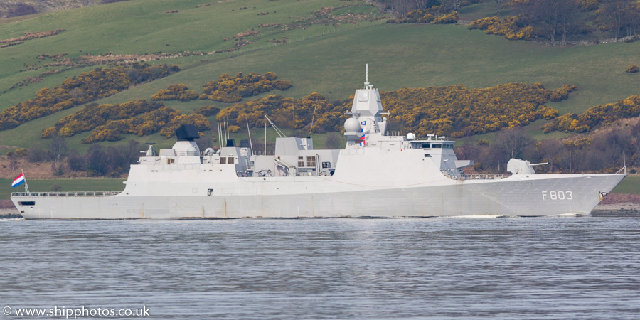 Tromp pictured passing Greenock on 24th March 2017