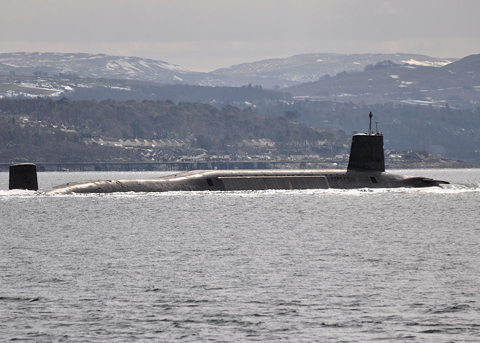 Vanguard pictured on the River Clyde on 30th March 2013
