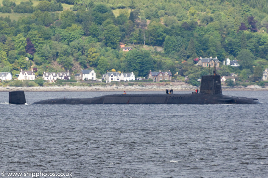 Vanguard pictured on the River Clyde on 8th June 2015