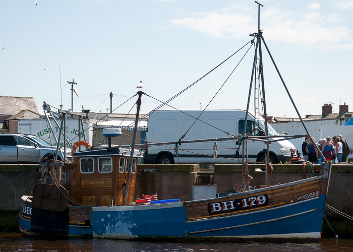 Venture pictured at Amble on 25th May 2014