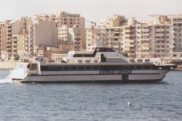 Victoria Express pictured arriving in Valletta in June 2000