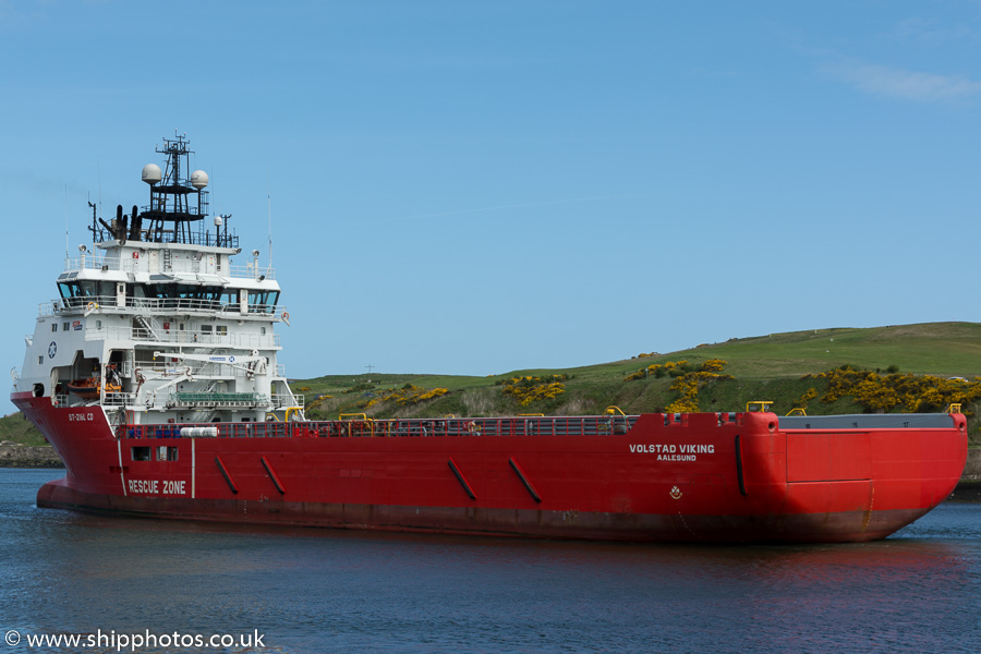 Volstad Viking pictured departing Aberdeen on 23rd May 2015