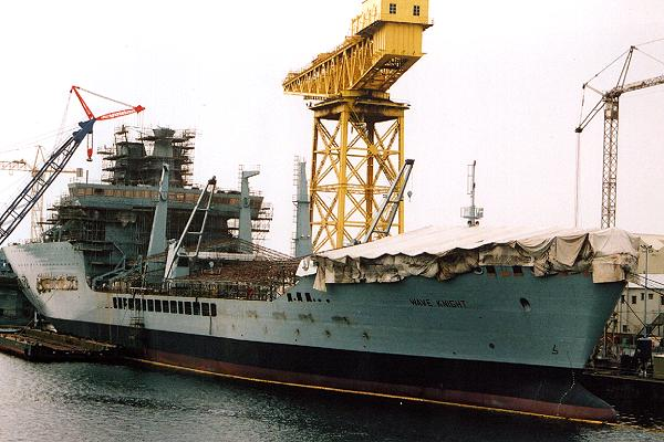 Wave Knight pictured fitting out in Barrow-in-Furness on 23rd June 2001