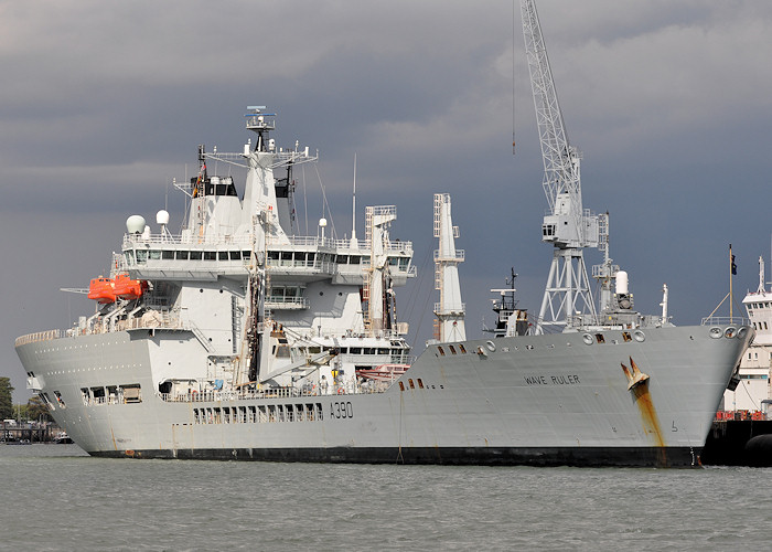 Wave Ruler pictured in Portsmouth Naval Base on 20th July 2012