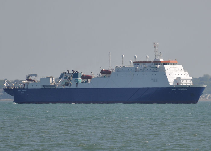 Wave Sentinel pictured in the Solent on 8th June 2013