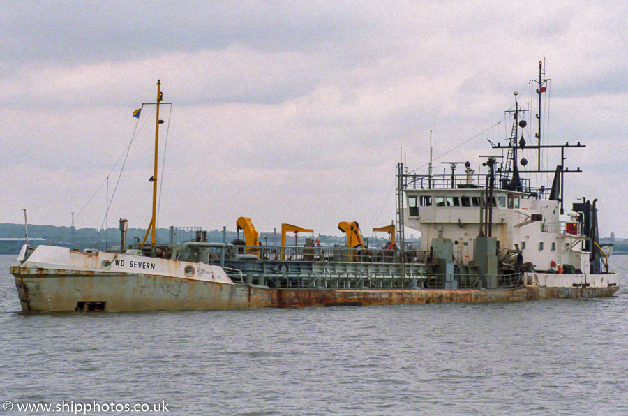 W.D. Severn pictured on the River Mersey on 20th May 2000