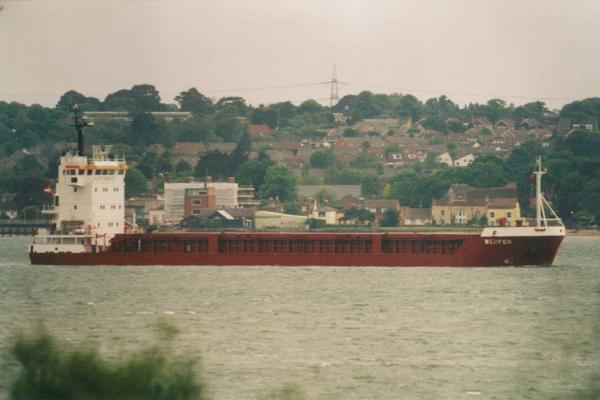 Werfen pictured arriving in Southampton on 27th May 2000
