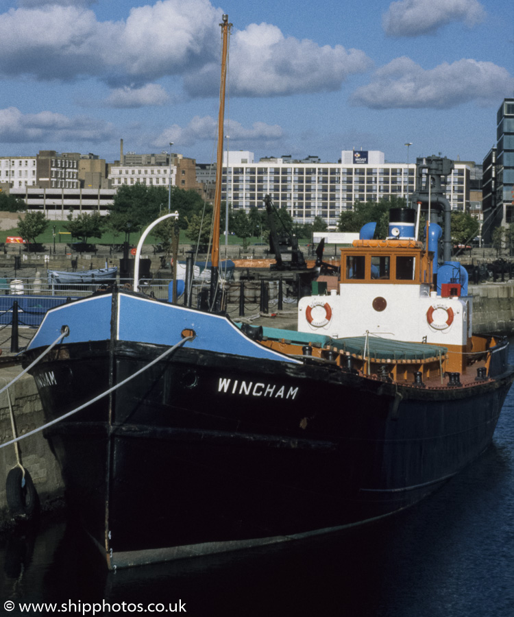 Wincham pictured in Canning Half-Tide Dock, Liverpool on 27th August 1998