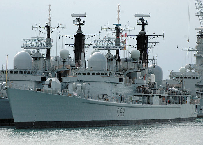 York pictured in Portsmouth Naval Base on 14th August 2010